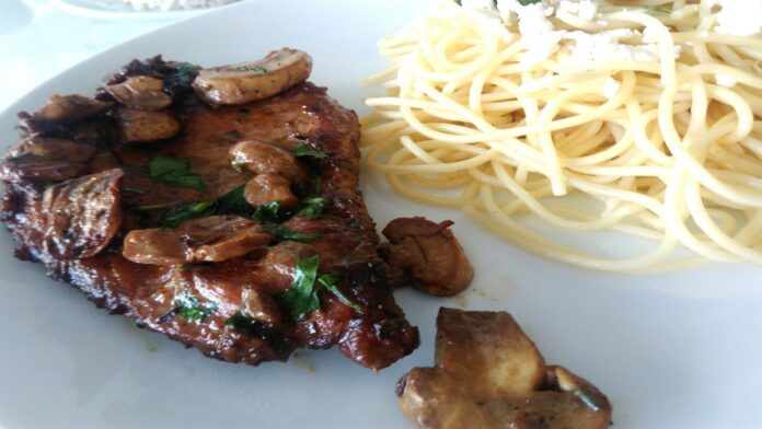mantar soslu tavuk biftek | gaziantepetyemekleri.com